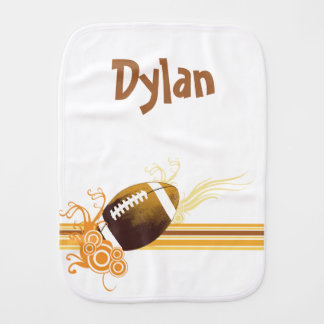 Football Sports Ball Game Personalized Name Burp Cloth