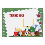 FOOTBALL Sports Fan All Star Folded Thank you note