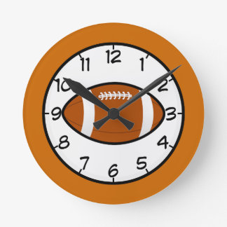 Football Sports Team Coach Teacher Destiny Round Clock