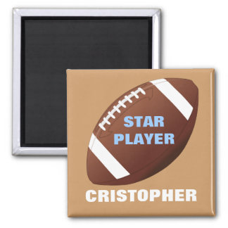 Football Star Personalized Magnet