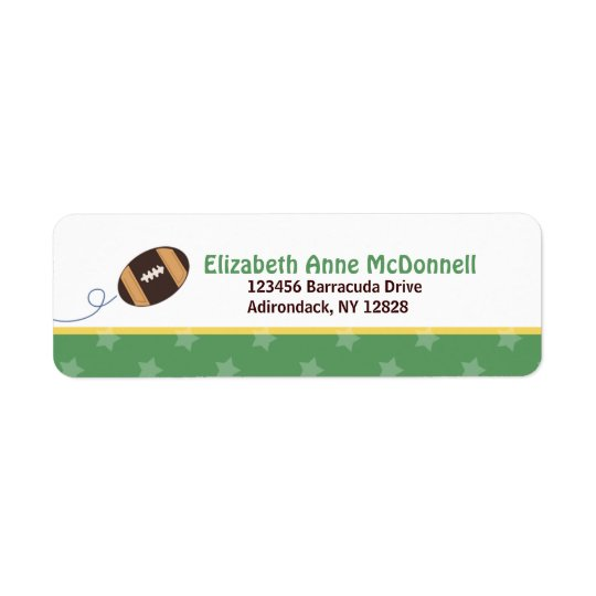 Football Star Sports Theme Custom Address Labels