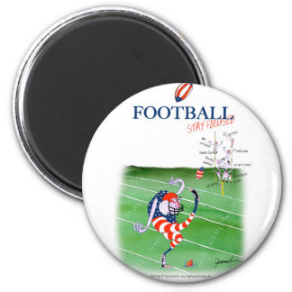 Football stay focused, tony fernandes 6 cm round magnet
