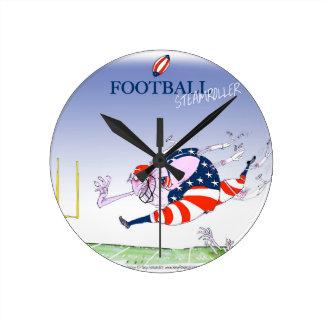 Football steamroller, tony fernandes wall clocks