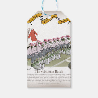 football-substitutes red teams gift tags