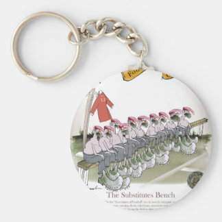 football-substitutes red teams key ring