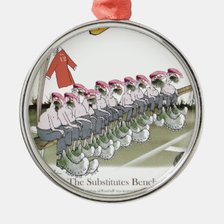 football-substitutes red teams metal ornament