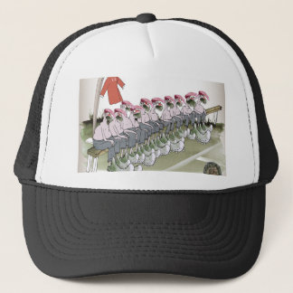 football-substitutes red teams trucker hat