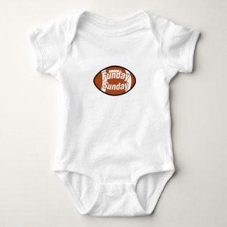 Football Sunday Funday Weekend Warrior Football Baby Bodysuit