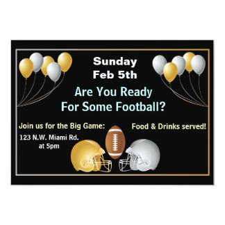 Football Superbowl Party Card