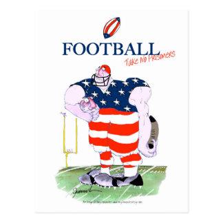 Football take no prisoners, tony fernandes postcard