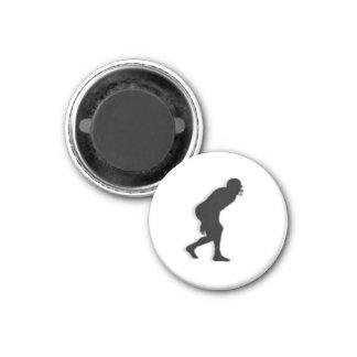 Football TD Chess TAG D-Linebacker - White-L 3 Cm Round Magnet
