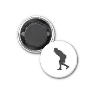Football TD Chess TAG D-Linebacker - White-R 3 Cm Round Magnet