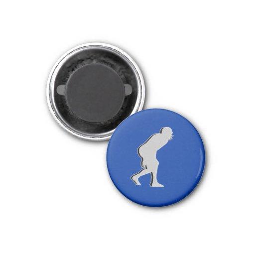 Football TD TAG D-Linebacker - Blue-L Fridge Magnet
