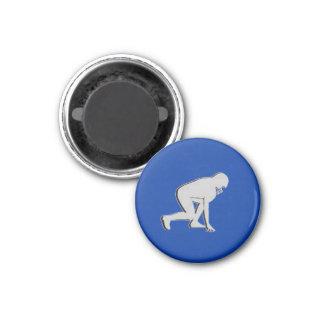 Football TD TAG Lineman - Blue-L 3 Cm Round Magnet
