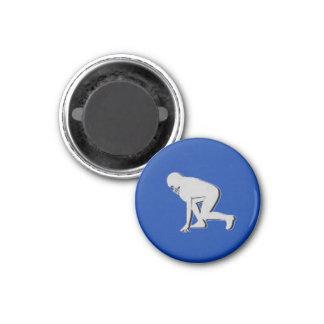 Football TD TAG Lineman - Blue-R 3 Cm Round Magnet