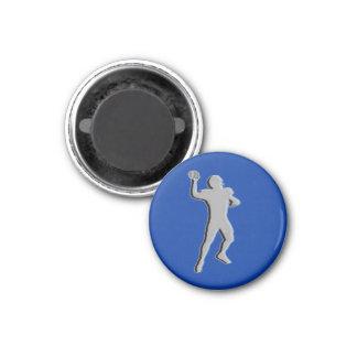 Football TD TAG Quarterback - Blue-L 3 Cm Round Magnet