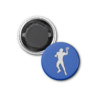 Football TD TAG Quarterback - Blue-R 3 Cm Round Magnet