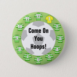 Football Team Badge with Green Hooped Shirts