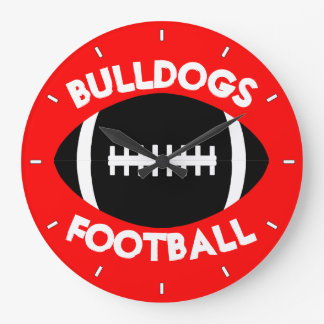 Football Team Custom Text and Color Wall Clock