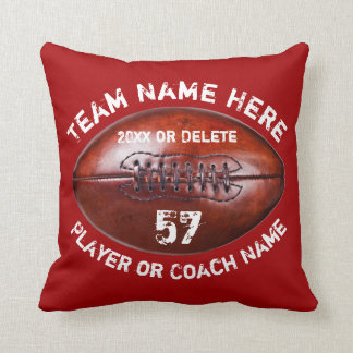 Football Team Gifts 4 Text Boxes in Your Colours Cushion