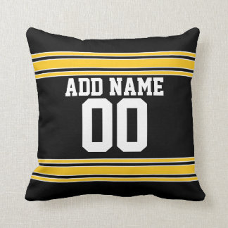 Football Team Jersey with Custom Name Number Cushion
