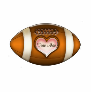 Football Team Mom Ornament Photo Sculpture Decoration