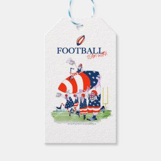 Football team work, tony fernandes gift tags