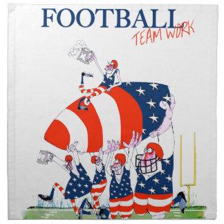 Football team work, tony fernandes napkin