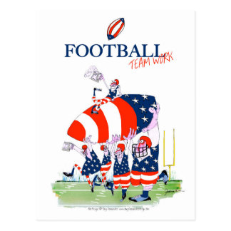 Football team work, tony fernandes postcard