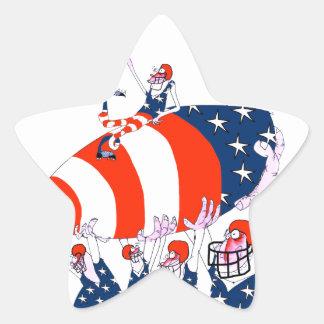 Football team work, tony fernandes star sticker