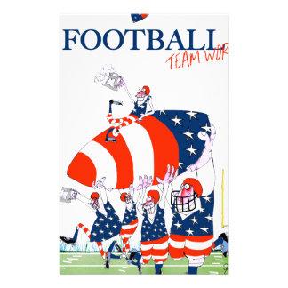 Football team work, tony fernandes stationery