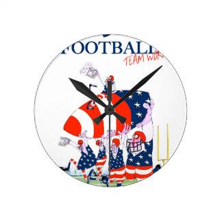 Football team work, tony fernandes wallclock