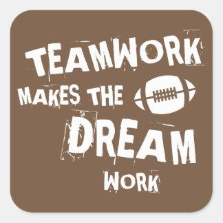Football Teamwork Sticker