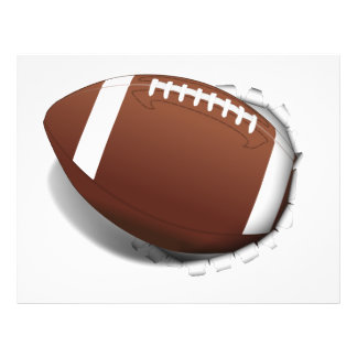 Football Tearing Out 21.5 Cm X 28 Cm Flyer