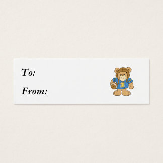 Football Teddy Bear Design Mini Business Card