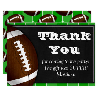 Football Thank You Card for Football Fans