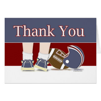 Football Thank You Card Template