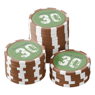Football Theme Birthday Poker Chips