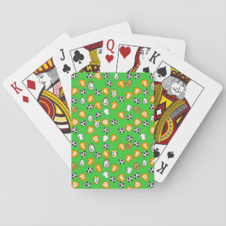 Football Theme with Orange Gold Shirts Playing Cards
