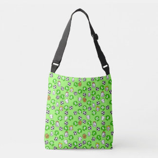 Football Theme with Shirts in Green Crossbody Bag