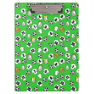 Football Theme with White Shirts Clipboard
