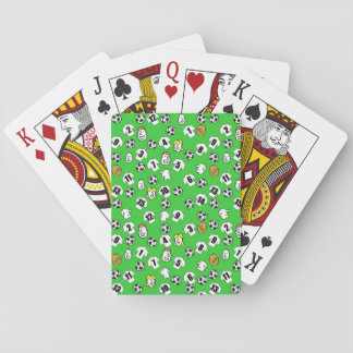 Football Theme with White Shirts Playing Cards
