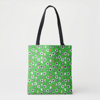 Football themed bag with shirts in white