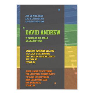 Football Themed Bar Bat Mitzvah Invitation Invite