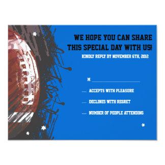 Football Themed Bar Bat Mitzvah Reply Card Announcements