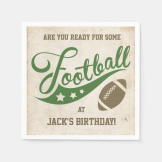 Football Themed Napkins | Paper Party Goods Paper Serviettes