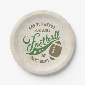 Football Themed Party Plates