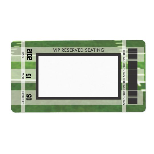 Football Themed Print Your Own Address Label