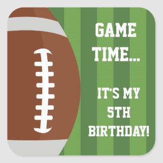 Football Themed Stickers | Birthday Party Ideas