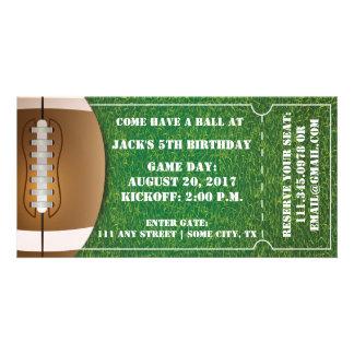 Football Themed Ticket Invitation for Birthday